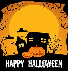 Halloween theme with haunted house vector