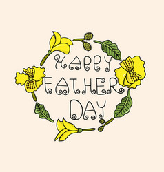 Happy fathers day celebration concept vector