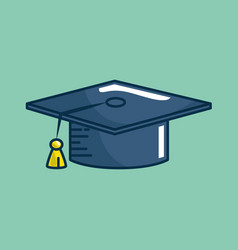 Hat graduation handmade drawn vector
