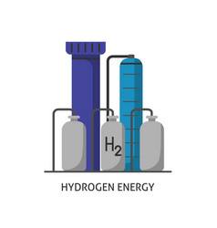 Hydrogen plant icon in flat style vector