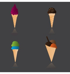 ice cream types eps10 vector image