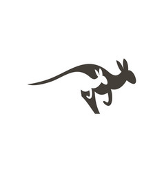 Kangaroo running logo icon symbol design vector
