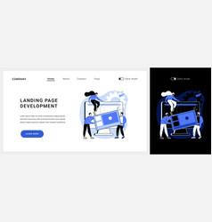 landing page development concept vector image