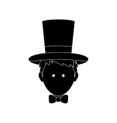 Magician with hat vector image
