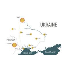 Map of ukraine vector