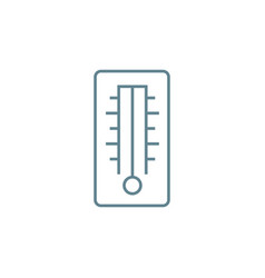 mercury thermometer linear icon concept mercury vector image