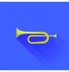 Metallic horn vector