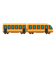 modern train icon flat style vector image