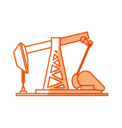 oil pump machinery vector image