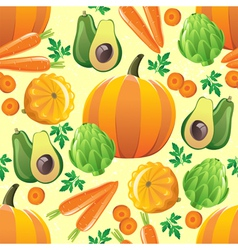 orange vegetables seamless vector image