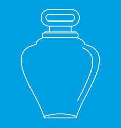 Parfume bottle icon outline style vector