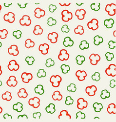 Pepper slices pattern vector