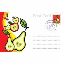 Postcard vector