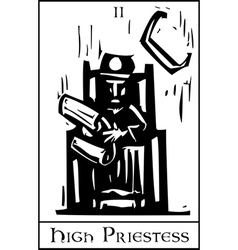 Priestess tarot card vector