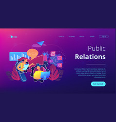 Public relations concept landing page vector