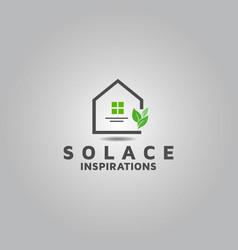Real estate interior logo design template vector