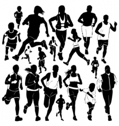 running people vector image