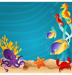 Sea bottom vector image