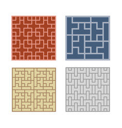 Seamless geometric line pattern for tile and floor vector