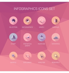 Set of infographics background vector image