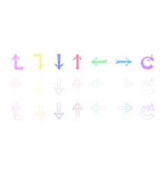 Set of isolated polygonal arrows vector