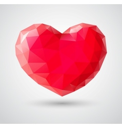 Shiny heart gem symbol vector