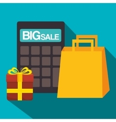 Shopping marketing and sales graphic design vector