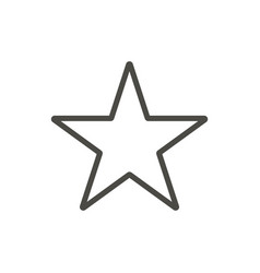 star icon outline vector image