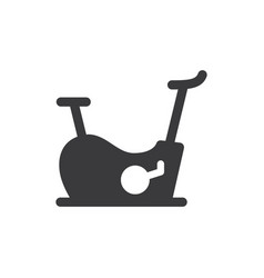 stationary bike icon vector image