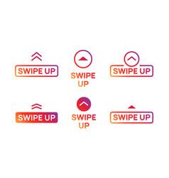 Swipe up insta story icon scroll arrow drag vector