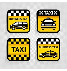 Taxi - set square stickers vector image
