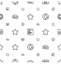 trendy icons pattern seamless white background vector image