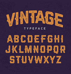Vintage typeface retro style font vector