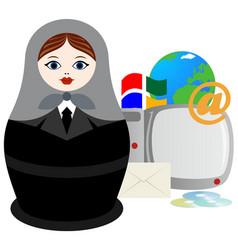 web programmer vector image
