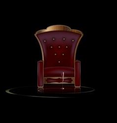 darkness and armchair vector image vector image