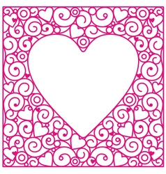 Love cards circle vector image vector image