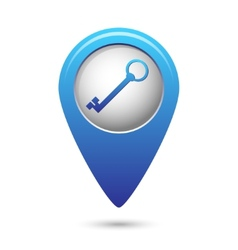 Map pointer with closed lock icon vector image vector image