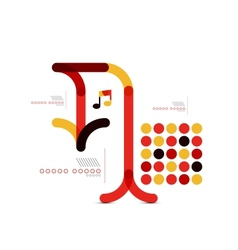 Minimal geometric arrow abstract design vector