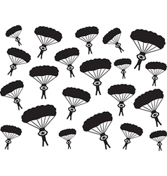 People with parachute vector image vector image