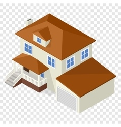 Architecture isometric cottage vector image