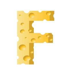 cheese letter F vector image vector image