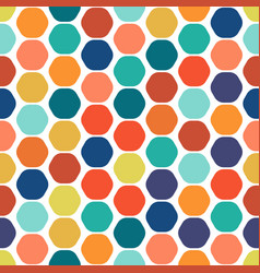 hexagon colorful seamless geometric pattern vector image vector image
