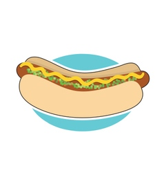 Hot Dog and Relish vector image