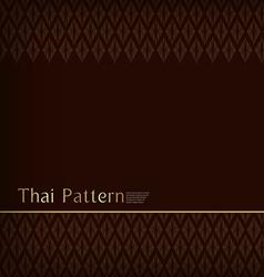 Thai Pattern Vintage vector image