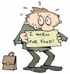 Unemployed man vector