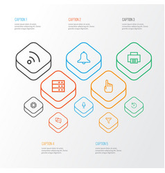 User outline icons set collection of history vector