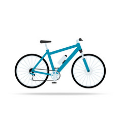 blue bicycle flat icon bike isolated on vector image vector image