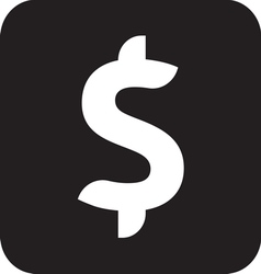 Dollar icon1 resize vector image