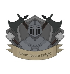 Medieval knight logo Color vector image vector image