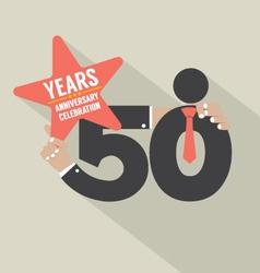 50 years anniversary typography design illu vector